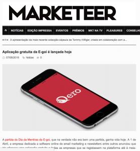 Aplicação gratuita da E-goi é lançada hoje : Marketeer (2016/06)